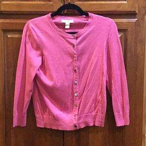Pink Cardigan with Silver Buttons